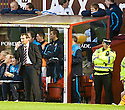 31/10/2009  Copyright  Pic : James Stewart.sct_jspa25_motherwell_v_hearts  . :: HEARTS CAPTAIN MICHAEL STEWART WATCHES FROM THE SIDELINES :: .James Stewart Photography 19 Carronlea Drive, Falkirk. FK2 8DN      Vat Reg No. 607 6932 25.Telephone      : +44 (0)1324 570291 .Mobile              : +44 (0)7721 416997.E-mail  :  jim@jspa.co.uk.If you require further information then contact Jim Stewart on any of the numbers above.........