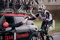 Roy Curvers (NED/Sunweb) with a blooded nose<br /> <br /> 61th E3 Harelbeke (1.UWT)<br /> Harelbeke - Harelbeke (206km)