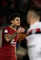 Calcio, Serie A: AS Roma vs Cagliari, Roma, stadio Olimpico, 16 dicembre 2017.<br /> Roma's Diego Perotti reacts after missing a penalty during the Italian Serie A football match between AS Roma and Cagliari at Rome's Olympic stadium, December 16, 2017.<br /> UPDATE IMAGES PRESS/Isabella Bonotto