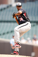 August 8, 2009:  Pitcher DeAndre Smelter (22) of the Baseball Factory team during the Under Armour All-America event at Wrigley Field in Chicago, IL.  Photo By Mike Janes/Four Seam Images
