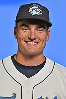 Asheville Tourists outfielder Sam Hilliard (25) poses for a photo at Story Point Media on April 5, 2016 in Asheville, North Carolina. (Tony Farlow/Four Seam Images)