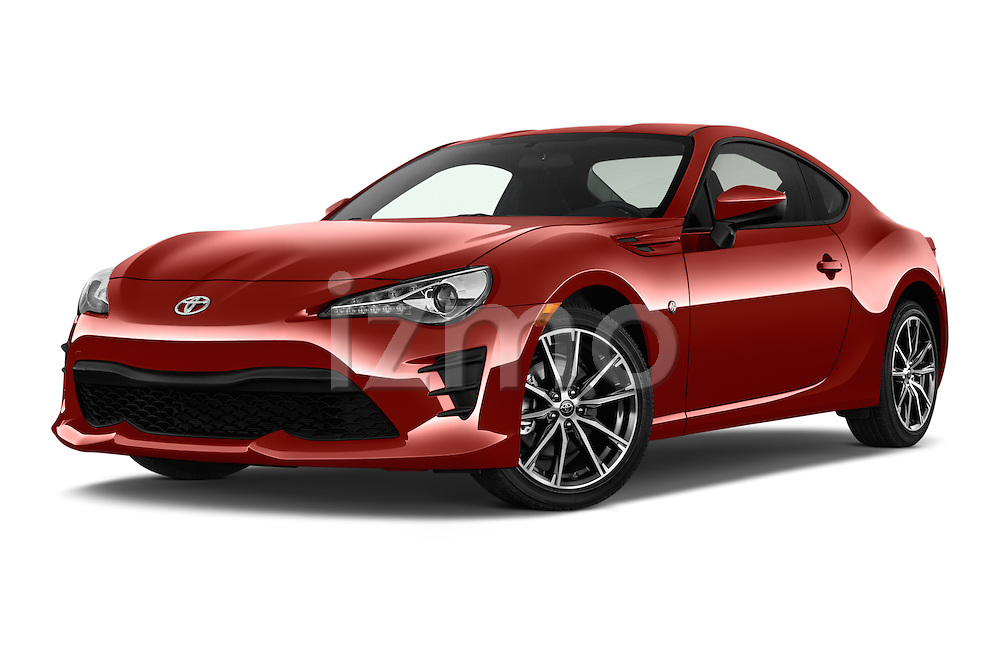 Stock pictures of low aggressive front three quarter view of 2018 Toyota 86 Automatic 2 Door Coupe Low Aggressive