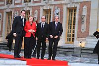 Francois Hollande , Angela Merkel ,Mariano Rajoy BREY et Paolo Gantiloni - SOMMET INFORMEL DES CHEFS DE GOUVERNEMENT ALLEMAND, ESPAGNOL, ITALIEN ET FRANCAIS