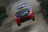 21st May 2021, Arganil, Portugal. WRC Rally of Portugal;  Oliver Solberg -Hyundai NG i20 WRC2