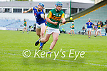 Nathan Guerin, Kerry in action against Ciarán Breen, Wicklow in the Allianz National Hurling League Division 2A Round 4 at Austin Stack Park, Tralee on Saturday.