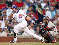 August 18, 2007:  Mark DeRosa of the Chicago Cubs at Wrigley Field in Chicago, IL.  Photo by:  Chris Proctor/Four Seam Images
