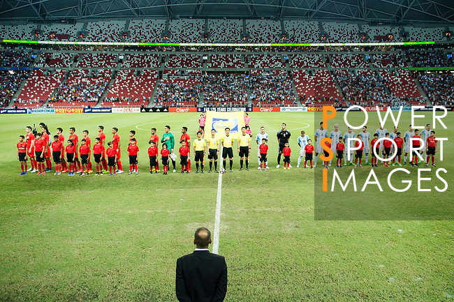 Singapore and Argentina in line during the International Test match between Argentina and Singapore at National Stadium on June 13, 2017 in Singapore. Photo by Marcio Rodrigo Machado / Power Sport Images