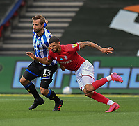 Bristol City's Nakhi Wells (right) battles with Sheffield Wednesday's Julian Borner (left) <br /> <br /> Photographer David Horton/CameraSport<br /> <br /> The EFL Sky Bet Championship - Bristol City v Sheffield Wednesday - Sunday 28th June 2020 - Ashton Gate Stadium - Bristol <br /> <br /> World Copyright © 2020 CameraSport. All rights reserved. 43 Linden Ave. Countesthorpe. Leicester. England. LE8 5PG - Tel: +44 (0) 116 277 4147 - admin@camerasport.com - www.camerasport.com