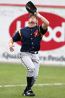 State College Spikes Matt Wilkerson during a NY-Penn League game at Dwyer Stadium on June 30, 2006 in Batavia, New York.  (Mike Janes/Four Seam Images)
