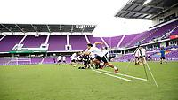 Orlando, Florida - Friday January 12, 2018: Thomas Vancaeyezeele during the sprint. The 2018 adidas MLS Player Combine Skills Testing was held Orlando City Stadium.