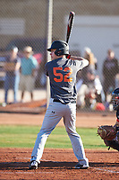 Carson Hansen (52), from St. Anthony, Idaho, while playing for the Giants during the Under Armour Baseball Factory Recruiting Classic at Gene Autry Park on December 30, 2017 in Mesa, Arizona. (Zachary Lucy/Four Seam Images)