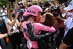 Race leader Maglia Rosa Egan Bernal (COL) Ineos Grenadiers wins the overall classification with the Trofeo Senza Fine at the end of Stage 21 of the 2021 Giro d'Italia, an individual time trial running 30.3km from Senago to Milan, Italy. 30th May 2021.  <br /> Picture: LaPresse/Gian Mattia D'Alberto   Cyclefile<br /> <br /> All photos usage must carry mandatory copyright credit (© Cyclefile   LaPresse/Gian Mattia D'Alberto)