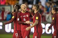 San Jose, Ca - Friday March 24, 2017: Michael Bradley Clint Dempsey during the USA Men's National Team defeat of Honduras 6-0 during their 2018 FIFA World Cup Qualifying Hexagonal match at Avaya Stadium.