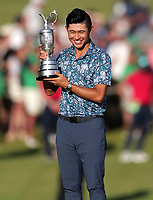 18th July 2021; Royal St Georges Golf Club, Sandwich, Kent, England; The Open Championship Golf, Day Four; Collin Morikawa (USA) poses with the Claret Jug o the 18th green