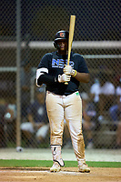 Elijah Dukes (27) during the WWBA World Championship at Roger Dean Stadium Complex on October 8, 2021 in Jupiter, Florida.  Elijah Dukes (27) is from Tampa, Florida, attends Wharton High School, and is committed to San Jacinto CC.  (Mike Janes/Four Seam Images)