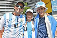 Photo before the match Argentina vs Chile corresponding to the Final of America Cup Centenary 2016, at MetLife Stadium.<br /> <br /> Foto previo al partido Argentina vs Chile cprresponidente a la Final de la Copa America Centenario USA 2016 en el Estadio MetLife , en la foto:Fans de Argentina<br /> <br /> 26/06/2016/MEXSPORT/Isaac Ortiz.