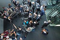 Sitzung des NSA-Untersuchungsausschuss am Mittwoch den 17. Juni 2015.<br /> Im Bild: Dr. Konstantin von Notz, Obmann der Bundestagsfraktion von Buendnis 90/Die Gruenen beim Pressestatement.<br /> 17.6.2015, Berlin<br /> Copyright: Christian-Ditsch.de<br /> [Inhaltsveraendernde Manipulation des Fotos nur nach ausdruecklicher Genehmigung des Fotografen. Vereinbarungen ueber Abtretung von Persoenlichkeitsrechten/Model Release der abgebildeten Person/Personen liegen nicht vor. NO MODEL RELEASE! Nur fuer Redaktionelle Zwecke. Don't publish without copyright Christian-Ditsch.de, Veroeffentlichung nur mit Fotografennennung, sowie gegen Honorar, MwSt. und Beleg. Konto: I N G - D i B a, IBAN DE58500105175400192269, BIC INGDDEFFXXX, Kontakt: post@christian-ditsch.de<br /> Bei der Bearbeitung der Dateiinformationen darf die Urheberkennzeichnung in den EXIF- und  IPTC-Daten nicht entfernt werden, diese sind in digitalen Medien nach §95c UrhG rechtlich geschuetzt. Der Urhebervermerk wird gemaess §13 UrhG verlangt.]