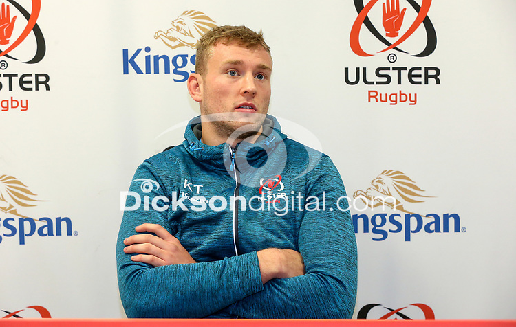 Tuesday 5th November 2019   Ulster Rugby Match Briefing<br /> <br /> Kieran Treadwell at the Ulster Rugby Match Briefing held at Kingspan Stadium, Belfast, ahead of Ulster's away fixture against Munster at Thomond Park this Saturday. Photo - John Dickson / DICKSONDIGITAL. <br /> <br /> Photo by John Dickson / DICKSONDIGITAL