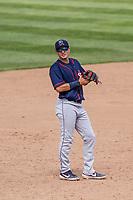 Cedar Rapids Kernels third baseman Andrew Bechtold (4) during a Midwest League game against the Beloit Snappers on June 2, 2019 at Pohlman Field in Beloit, Wisconsin. Beloit defeated Cedar Rapids 6-1. (Brad Krause/Four Seam Images)