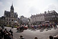 peloton leaving Compiègne<br /> <br /> 117th Paris-Roubaix 2019 (1.UWT)<br /> One day race from Compiègne to Roubaix (FRA/257km)<br /> <br /> ©kramon