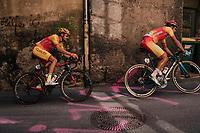 Omar Fraile (ESP/Astana) & Jesus Herrada (ESP/Cofidis)<br /> <br /> MEN ELITE ROAD RACE<br /> Kufstein to Innsbruck: 258.5 km<br /> <br /> UCI 2018 Road World Championships<br /> Innsbruck - Tirol / Austria