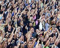"Pitt fans cheer to ""Sweet Caroline"". The Pitt Panthers defeated the Gardner-Webb Runnin Bulldogs 55-10 at Heinz Field, Pittsburgh PA on September 22, 2012.."