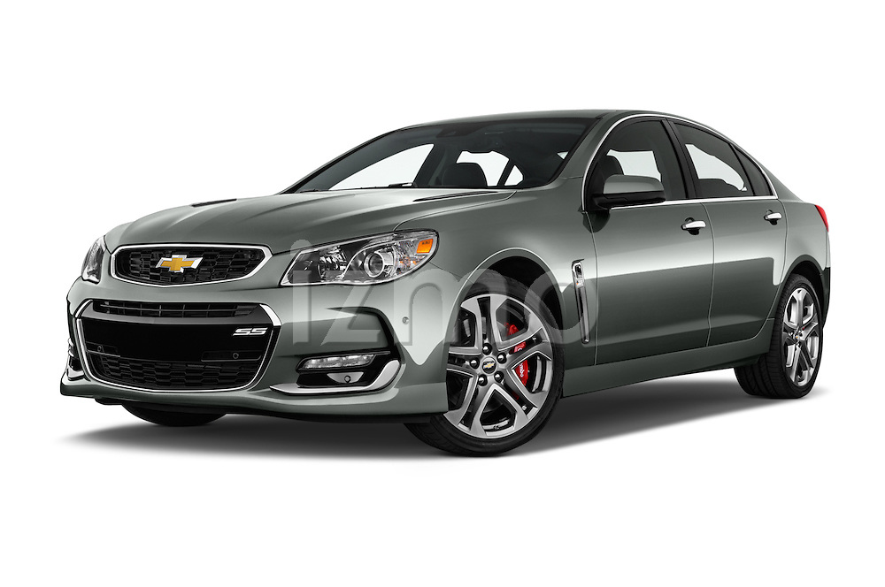 Stock pictures of low aggressive front three quarter view of 2017 Chevrolet SS 6.2 4 Door Sedan Low Aggressive