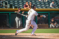 Grant Green (7) of the Salt Lake Bees at bat against the Albuquerque Isotopes in Pacific Coast League action at Smith's Ballpark on June 8, 2015 in Salt Lake City, Utah.  (Stephen Smith/Four Seam Images)