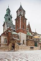 Europe/Voïvodie de Petite-Pologne/Cracovie:   La Cathédrale du Wawel  -  Vieille ville (Stare Miasto) classée Patrimoine Mondial de l'UNESCO,