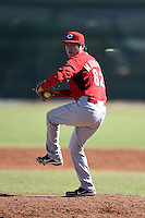 Cincinnati Reds pitcher Carlos Machorro (62) during an Instructional League game against the Kansas City Royals on October 16, 2014 at Goodyear Training Complex in Goodyear, Arizona.  (Mike Janes/Four Seam Images)