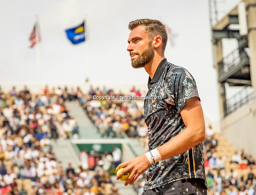 Paris, France, 26 May, 2019, Tennis, French Open, Roland Garros, Quintin Halys (FRA)<br /> Photo: Henk Koster/tennisimages.com