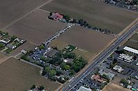 aerial photograph of the V. Satui Winery, St. Helena, Napa County, California