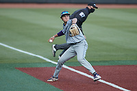 Old Dominion Monarchs third baseman Kenny Levari (7) on defense against the Charlotte 49ers at Hayes Stadium on April 23, 2021 in Charlotte, North Carolina. (Brian Westerholt/Four Seam Images)