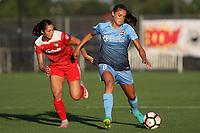 Piscataway, NJ - Friday August 04, 2017: Arielle Ship, Erica Skroski during a regular season National Women's Soccer League (NWSL) match between Sky Blue FC and the Washington Spirit at Yurcak Field.