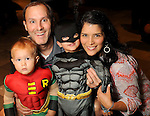 Monica and Scott Rose with Eli,3, and Ethan,1, at the M.D. Anderson Halloween party at The Galleria Sunday Oct 25, 2015.(Dave Rossman photo)