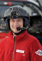 Pilot Knut Olav Sundbrei.   Norwegian Air Ambulance helicopter and crew.