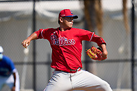 Philadelphia Phillies pitcher Hsin-Chieh Lin (72) during an Extended Spring Training game against the Toronto Blue Jays on June 12, 2021 at the Carpenter Complex in Clearwater, Florida. (Mike Janes/Four Seam Images)