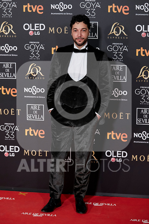 Ivan Palomares attends to 33rd Goya Awards at Fibes - Conference and Exhibition  in Seville, Spain. February 02, 2019. (ALTERPHOTOS/A. Perez Meca)