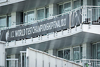 A general view of the hotel and banner at the Hampshire Bowl during a training session ahead of the ICC World Test Championship Final at the Ageas Bowl on 17th June 2021