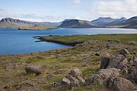 Hvalfjörður, Hvalfjördur, (isl. für Walfjord) ist ein Fjord im Westen Islands zwischen Kjalarnes und Akranes, Island, Iceland