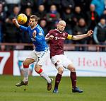 26.01.2020 Hearts v Rangers: Jon Flanagan and Steven Naismith