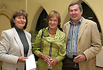 Patricia McAllister with Kay and Des McGinty a the Opening of the Arts Festival in The Highlanes Gallery...Photo NEWSFILE/Jenny Matthews.(Photo credit should read Jenny Matthews/NEWSFILE)....This Picture has been sent you under the condtions enclosed by:.Newsfile Ltd..The Studio,.Millmount Abbey,.Drogheda,.Co Meath..Ireland..Tel: +353(0)41-9871240.Fax: +353(0)41-9871260.GSM: +353(0)86-2500958.email: pictures@newsfile.ie.www.newsfile.ie.FTP: 193.120.102.198.