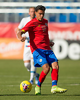 CARSON, CA - FEBRUARY 1: Yeltsin Tejeda #17 of Costa Rica dribbles the ball during a game between Costa Rica and USMNT at Dignity Health Sports Park on February 1, 2020 in Carson, California.