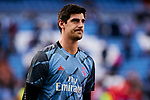 Thibaut Courtois of Real Madrid during La Liga match between Real Madrid and Atletico de Madrid at Santiago Bernabeu Stadium in Madrid, Spain. February 01, 2020. (ALTERPHOTOS/A. Perez Meca)