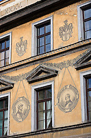 Europe/Pologne/Lublin: la place du marché-Rynek détail des maisons