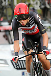 Andreas Kron (DEN)  Lotto Soudal in action during Stage 1 of La Vuelta d'Espana 2021, a 7.1km individual time trial around Burgos, Spain. 14th August 2021.    <br /> Picture: Luis Angel Gomez/Photogomezsport | Cyclefile<br /> <br /> All photos usage must carry mandatory copyright credit (© Cyclefile | Luis Angel Gomez/Photogomezsport)