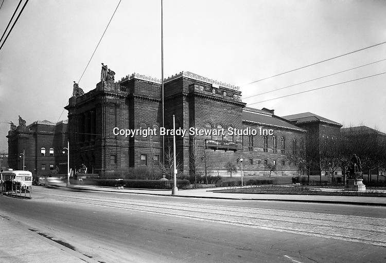Pittsburgh PA:  The Carnegie Library and Institute is located in the Oakland section of Pittsburgh.  Andrew Carnegie dedicated the main library, above, in 1895.  The main Library receives over 2.6 million visitors a year.