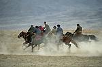 Kazakhs playing buzkashi, Pamir, China