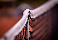 Almere, The Netherlands, August 24, 2018,  National Tennis Center, Tennis net with single post <br /> Photo: Tennisimages/Henk Koster