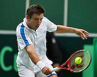 31-01-14,Czech Republic, Ostrava, Cez Arena, Davis Cup Czech Republic vs Netherlands, Igor Sijsling (NED) <br /> Photo: Henk Koster
